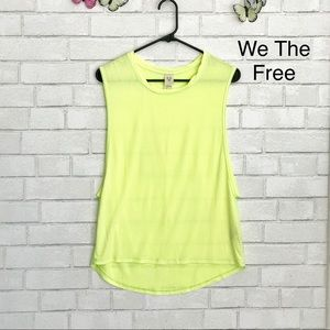 We The Free It Muscle Tee Rayon Crew Top Neon